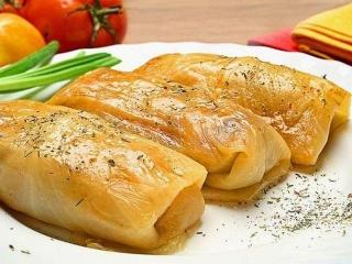 Голубцы, фаршированные творогом (блюда из капусты)
