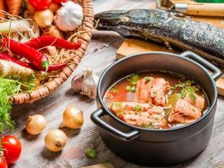 Солянка рыбная. Блюда из рыбы