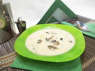 Суп с грибами и плавленым сыром. Рецепт с фото