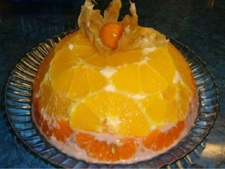 Творожно-апельсиновый десерт
