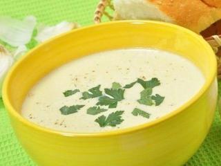 Сливочный чесночный суп-пюре