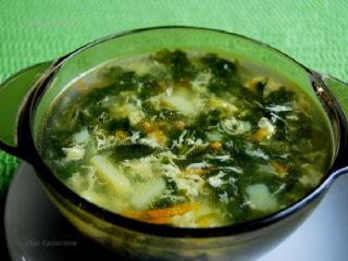 Суп со шпинатом. Вкусный оригинальный рецепт супа. Рецепт первого блюда