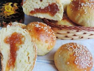 Творожные булочки с повидлом