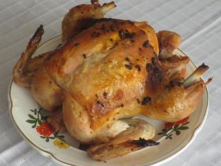 Запеченная курица в  кульке - простой рецепт