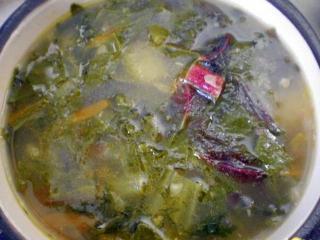 Суп из свекольных листьев и морковной ботвы