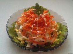 простые салаты с корейской морковью