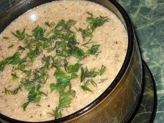 Грибной суп-пюре из вешенок и цветной капусты