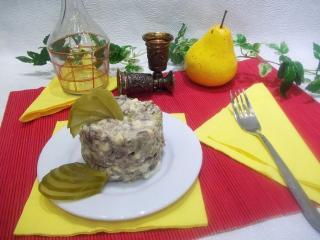 Салат с гусиным мясом. Рецепт с фото