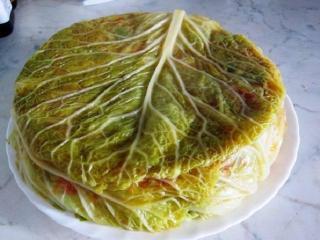 Овощная запеканка с савойской капустой