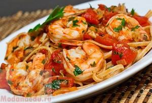 макароны с морепродуктами рецепт с фото