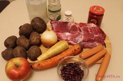Борщ с фасолью и кореньями – кулинарный рецепт