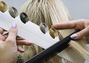 Окраска седых волос в русый цвет