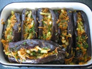 Баклажаны солёные фаршированные - рецепт с фото
