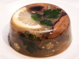 Заливное мясо с грибами