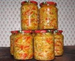 овощные салаты на зиму консервированные