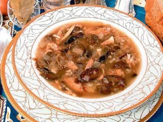 Куриный суп с черносливом. Вкусный рецепт куриного супа.<br> Блюдо из курицы