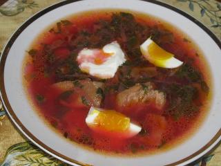 Борщ зеленый украинский. Вкусный рецепт борща.<br> Национальная украинская кухня