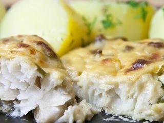 Треска, запеченная в майонезе. Вкусный рецепт блюда из рыбы.<br> Праздничное блюдо