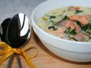 Суп с креветками и цветной капустой. Оригинальные рецепты первых блюд.