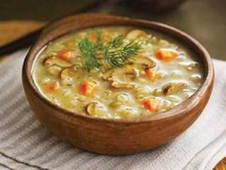 Крупеня грибная. Вкусный рецепт супа. Национальная белорусская кухня